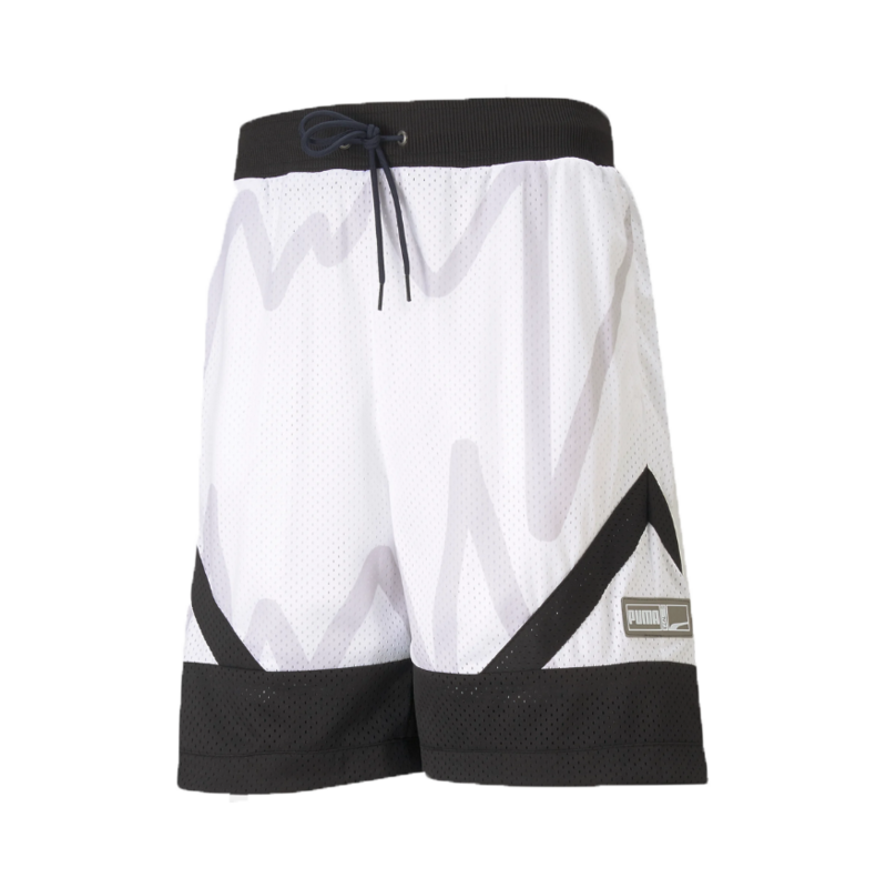 Puma Men's Basketball Jaws Mesh Shorts White/Black 530508 07
