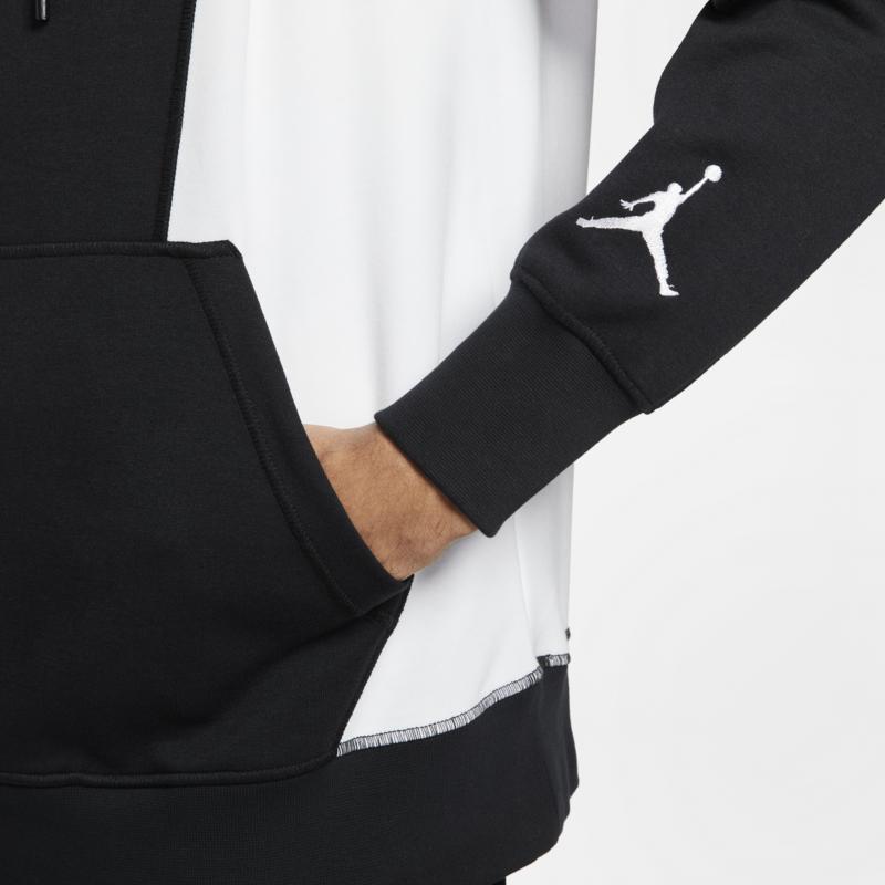Air Jordan Air Jordan Mens Dri-Fit Fleece Hoodie Zion Black/White DH0582 010