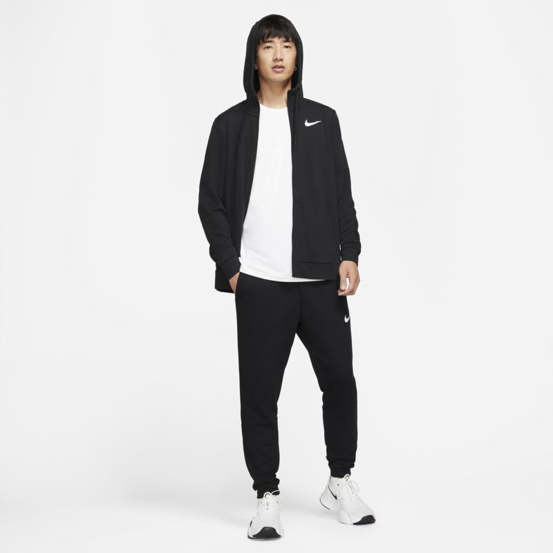 Nike Nike Mens Dri Fit Full zip Training Hoodie Black/White CZ6376 010