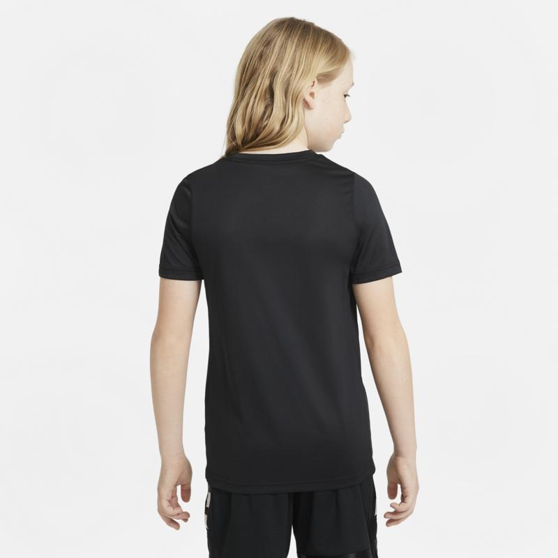 Nike Nike Dri-FIT Older Kids Training T-Shirt Black/White DH6547 010
