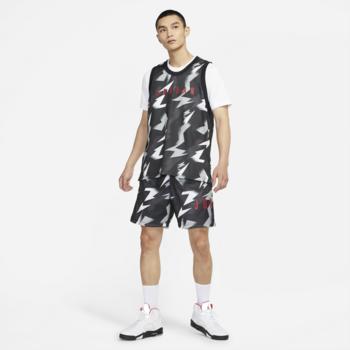 Air Jordan Air Jordan Men's Jumpman Air Men's Printed Mesh Shorts Black/Grey/White CZ4757 010