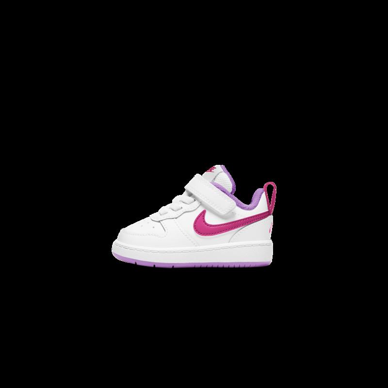 Nike Nike Court Borough Low 2 Toddler White/Hyper Pink-Fuchsia Glow BQ5453 111