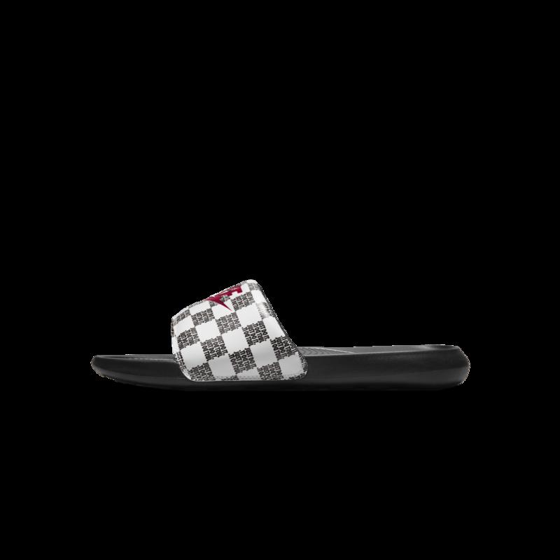 Nike Nike Mens Victori One Slide Print White/University Red-Black CN9678 102