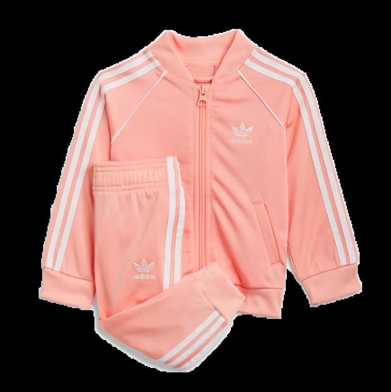 Adidas Adidas kids SST Tracksuit Glopink/white GN8440