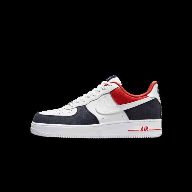 Nike Nike Men's Air Force 1 '07 LX Midnight Navy/Red Denim DJ5174 100