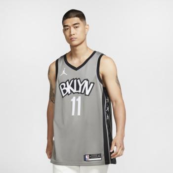 Air Jordan Air Jordan Brooklyn Nets Kyrie Irving Jersey Grey/Black CV9469 008