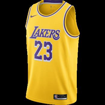 "Nike Nike Basketball LeBron James Los Angeles Lakers ""Yellow"" Jersey CW3669 734"