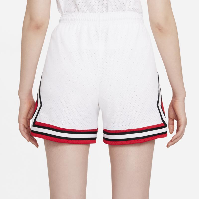 Air Jordan Air Jordan Women's Essential Diamond Shorts White/Red-Black DD0287 100