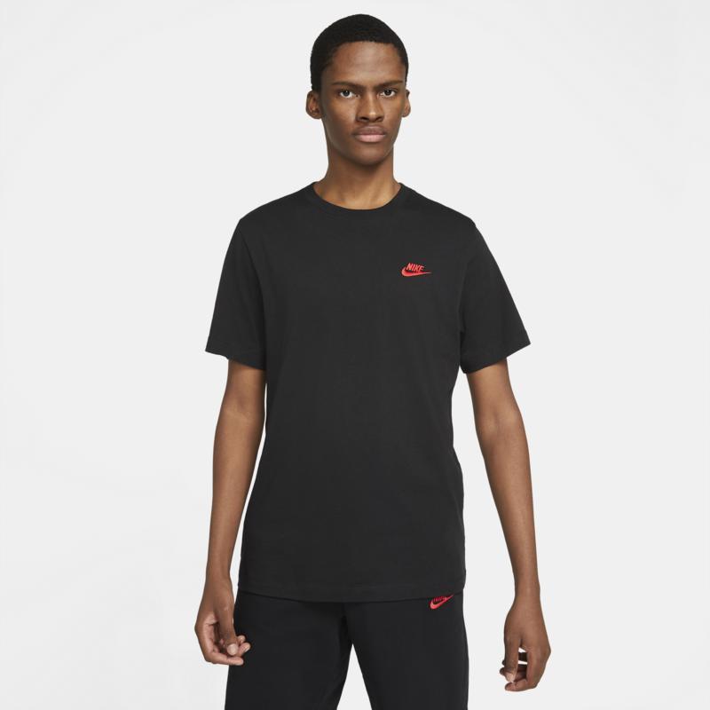 Nike Nike Sportswear Club Shirt Black/Red AR4997 016