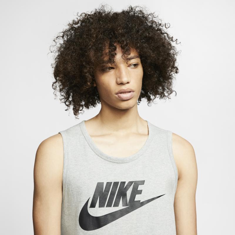 "Nike Nike NSW ""Icon Futura"" Tank Grey/Black AR4991 063"