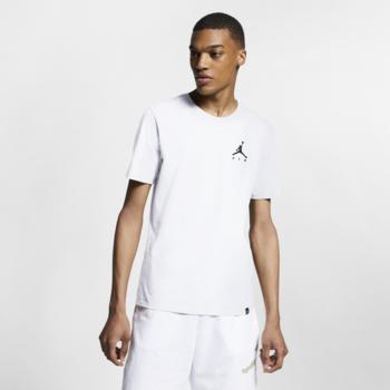 Air Jordan Air Jordan Men's Embroidered Jumpman T-shirt White  AH5296 100