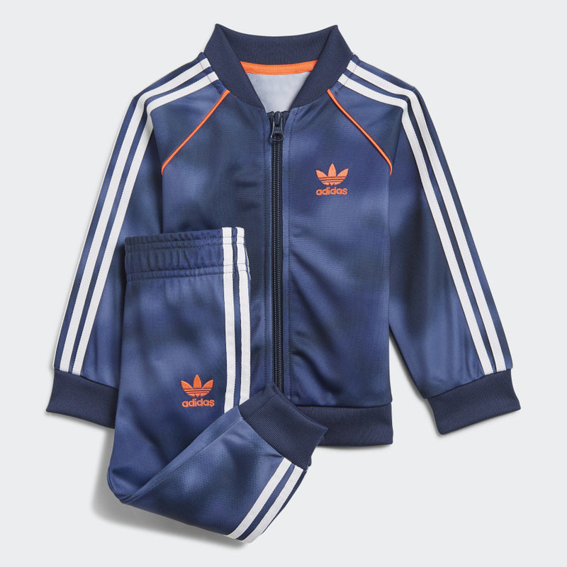 Adidas Adidas Kid's ALLOVER PRINT CAMO SST TRACK SUIT Crew Blue/Multicolor/App Solar Red GN4112