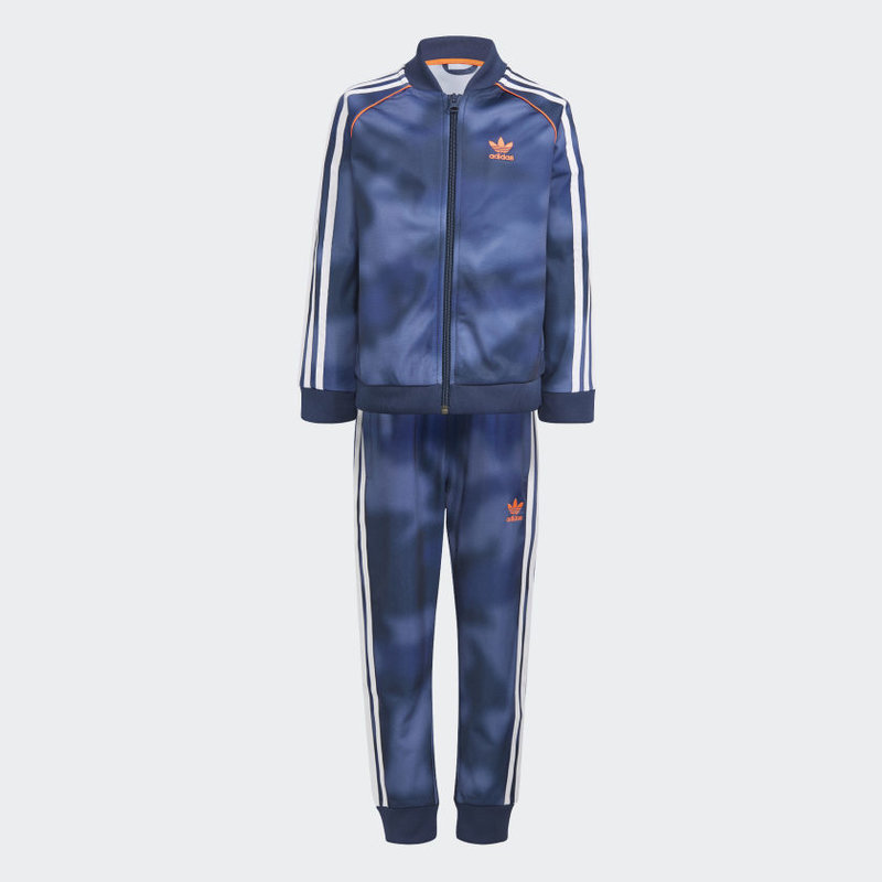 Adidas Adidas Kid's ALLOVER PRINT CAMO SST TRACK SUIT Crew Blue/Multicolor/White/App Solar Red GN4120