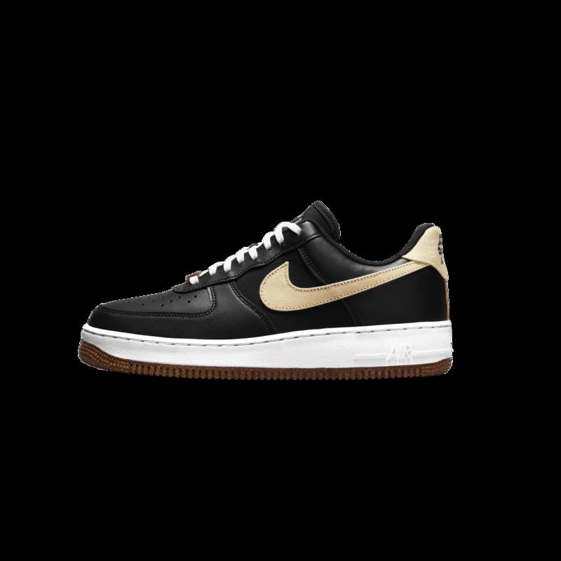 Nike Nike Mens Air Force 1 07 LV8  Cork Black/Solar Flare CZ0338 001