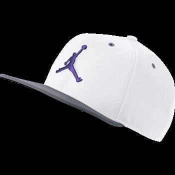 Air Jordan Nike Jordan Pro Jumpman Snapback 'White/Purple/Grey' AR2118 106