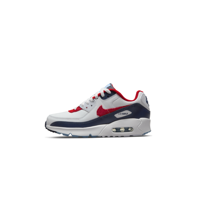 Nike Nike Air Max 90 GS 'White/Chile Red-Midnight Navy DJ5177 100