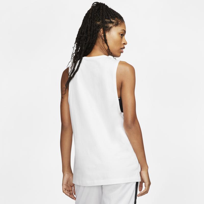 Nike Nike Womans Sportswear Muscle Tank Top White/Black CW2206 100