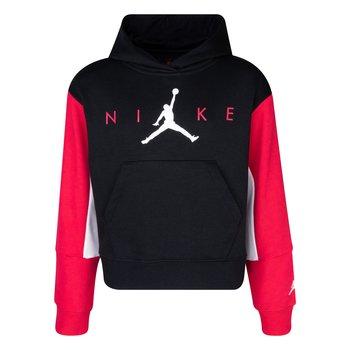 Air Jordan Air Jordan Girls Cropped Hoodie 'Black/Very Berry' 45A761 023
