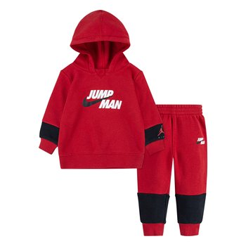 Air Jordan Air Jordan Kid's 2 Piece Fleece Jumpman 'Gym Red' 65A721 R78