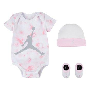 Air Jordan Air Jordan Infant Tie-Dye 3pc Set Pink/White NJ0442 A9Y