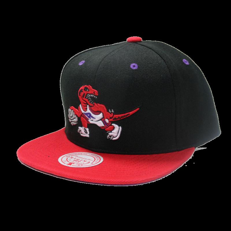 Mitchell & Ness Mitchell & Ness Toronto Raptors Black Red Snapback