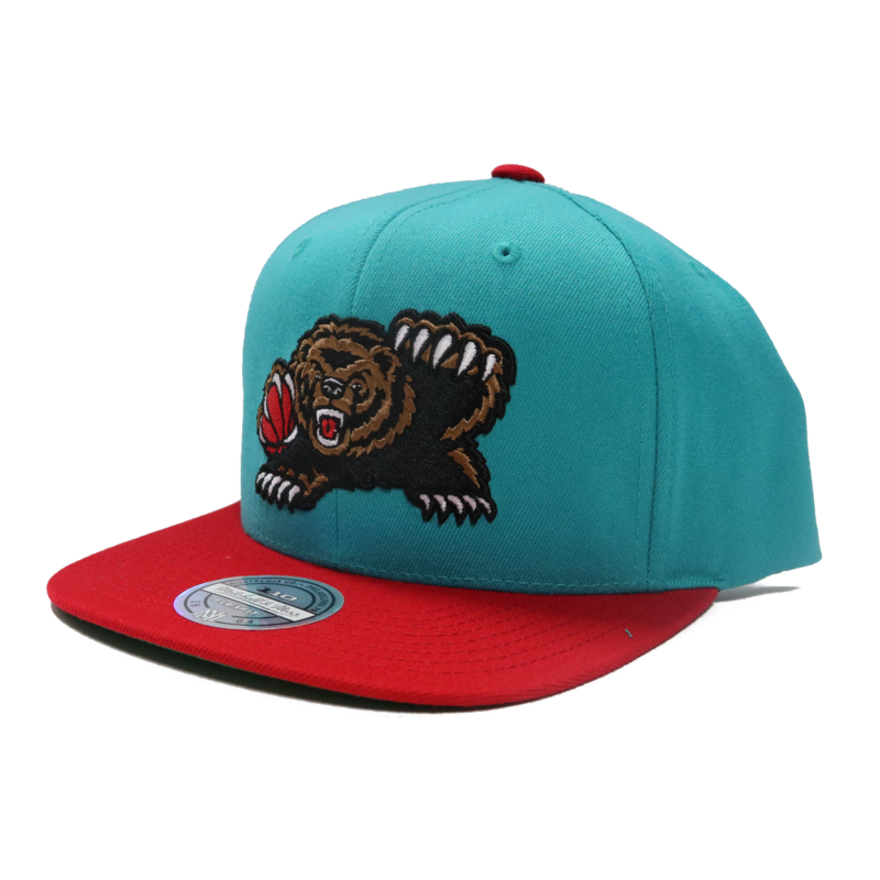 Mitchell & Ness Mitchell & Ness Vancouver Grizzlies Teal Red Snapback