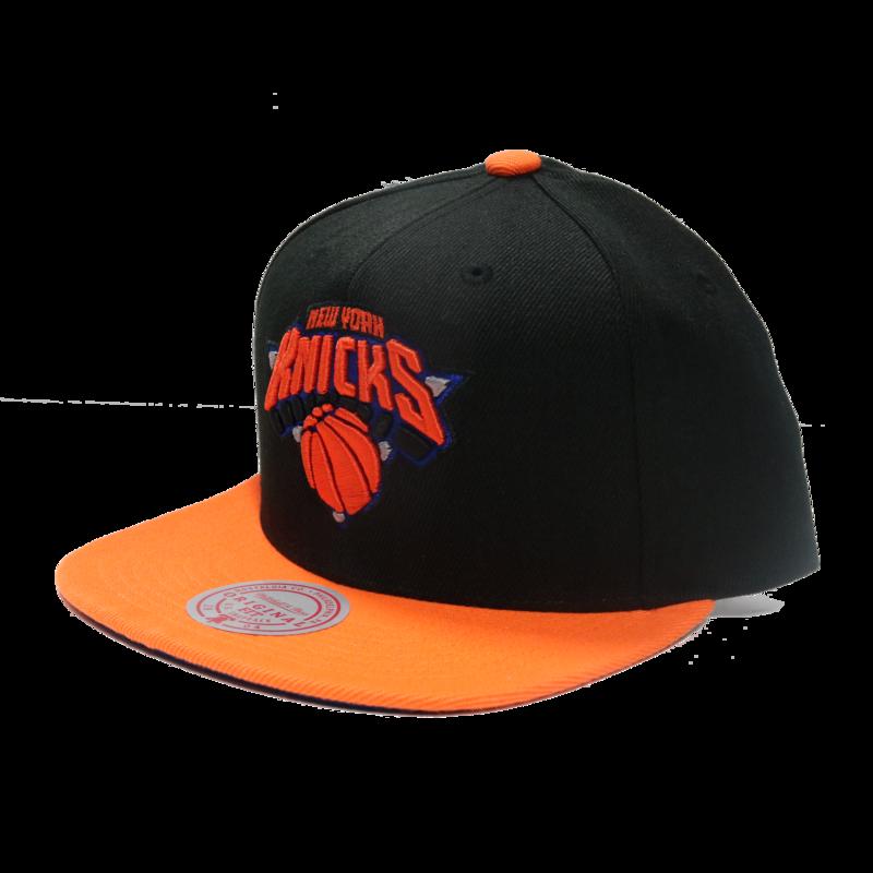 Mitchell & Ness Mitchell & Ness New York Knicks Black Orange Snapback
