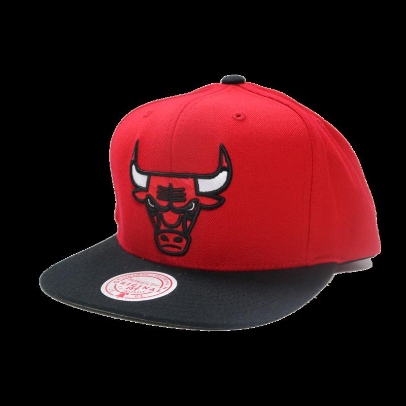 Mitchell & Ness Mitchell & Ness Chicago Bulls Classic Logo Red Black Snapback