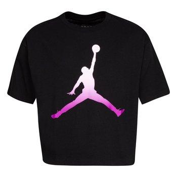Air Jordan Air Jordan Girls Core Boxy Tee 'Black' 45A437 023