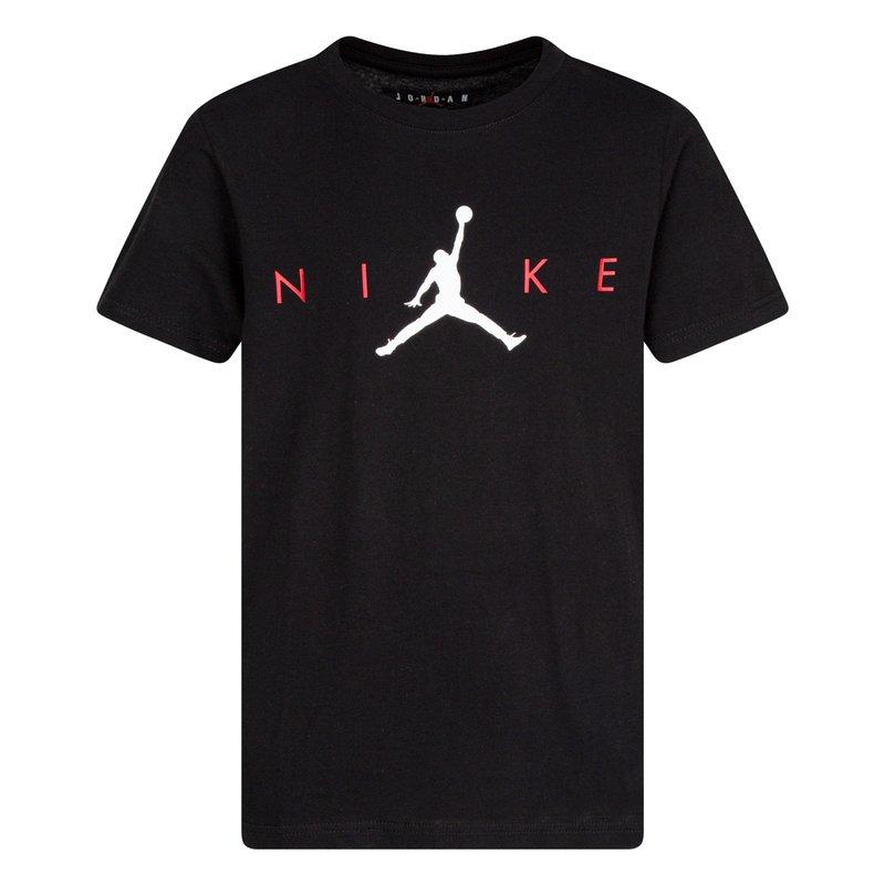 Air Jordan Air Jordan Boys SS Graphic Tee 'Black' 95A740 023