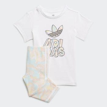 Adidas Adidas Kid's Marble Print Tee Dress and Tights Set H22631