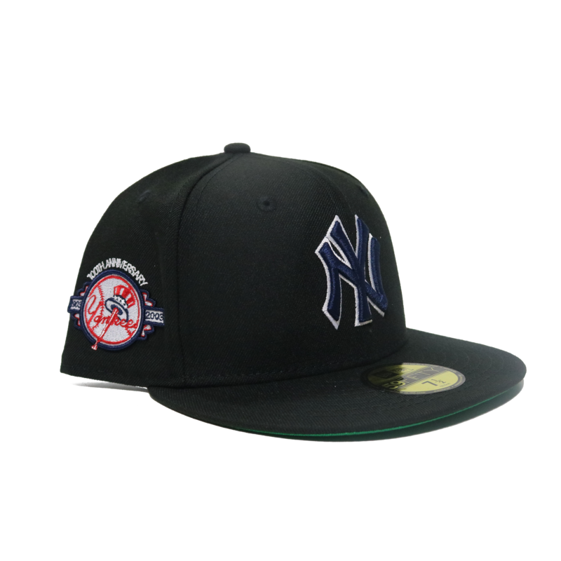 New Era New Era Yankees 100TH Anniversary Side Patch Green Under brim Fitted