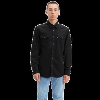 Levis Levis Men's Button Up Barstow Western Denim Top Black