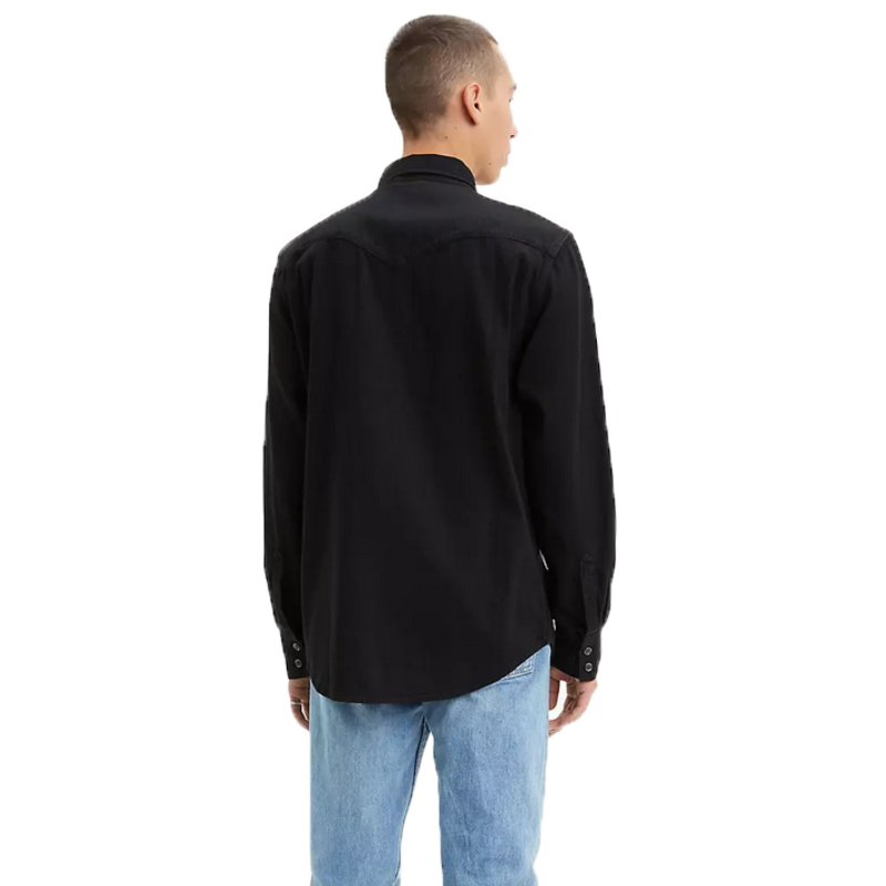 Levis Levis Men's Button Up Denim Top Black