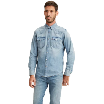 Levis Levis Men's Button Up Denim Top Light Wash