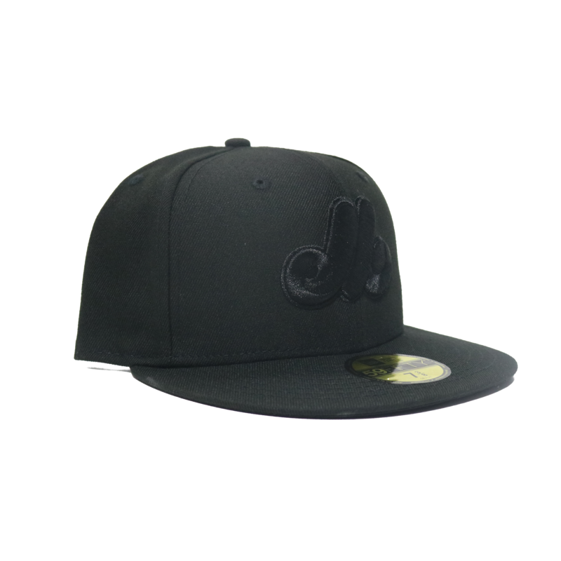 New Era New Era Expos 59FIFTY Triple Black Fitted