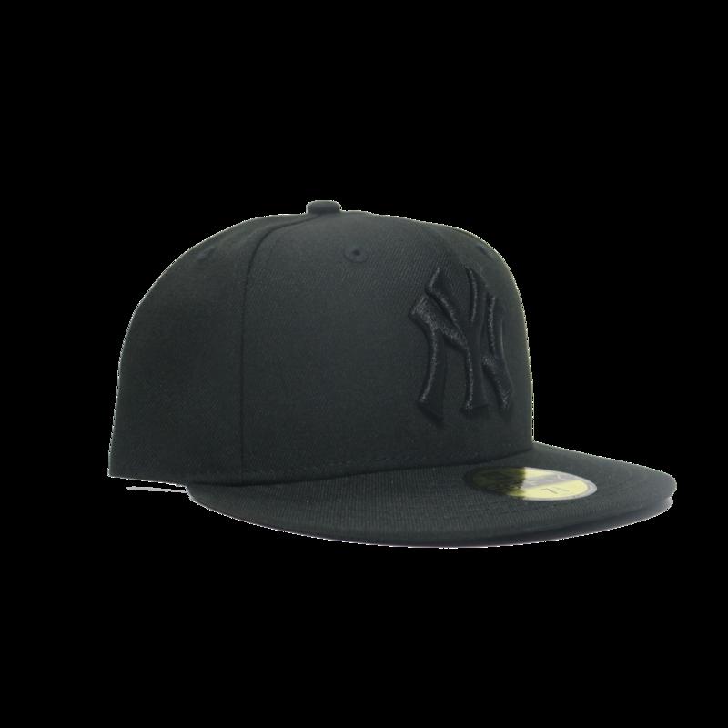New Era New Era Yankees 59FIFTY Triple Black Fitted Black Underbrim UV