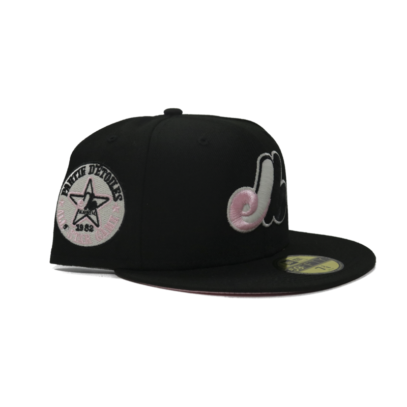 New Era New Era Montreal Expos Black Pink Underbrim UV 1962 All Star Game Patch 59Fifty Fitted