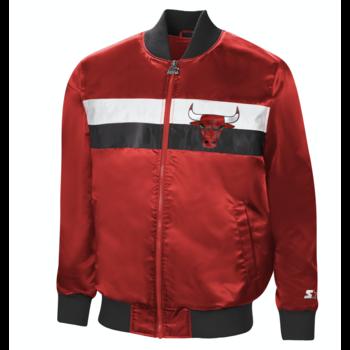 Starter Starter Satin Zip Bomber Jacket Bulls Red/Black-White LS130628