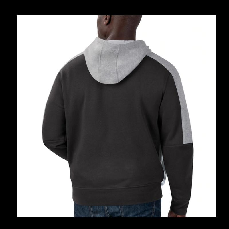 Starter Starter Fleece Full Zip Embroidered Patch Hoodie Raiders Black/Silver 6S100709