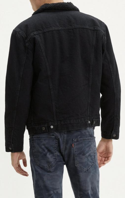 Levis Levis Men's Type 3 Sherpa Jacket Black 1636501000