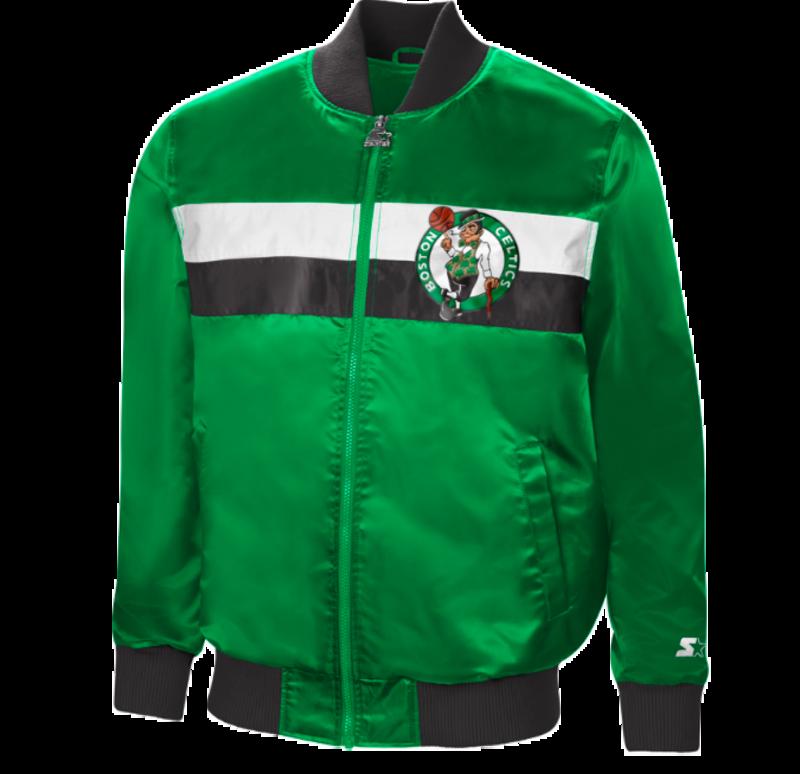 Starter Starter Satin Zip Bomber Jacket Celtics Green/White-Black LS130628