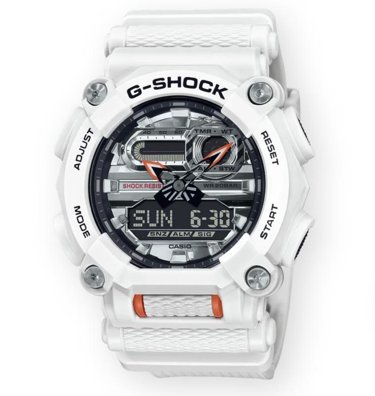 g-shock G-Shock GA900AS-7A White/Orange Big Face