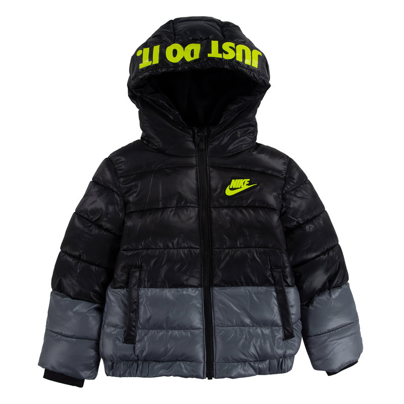 Nike Nike Kid's CLR Down Fill Jacket 'Black/Volt' 76H859 023