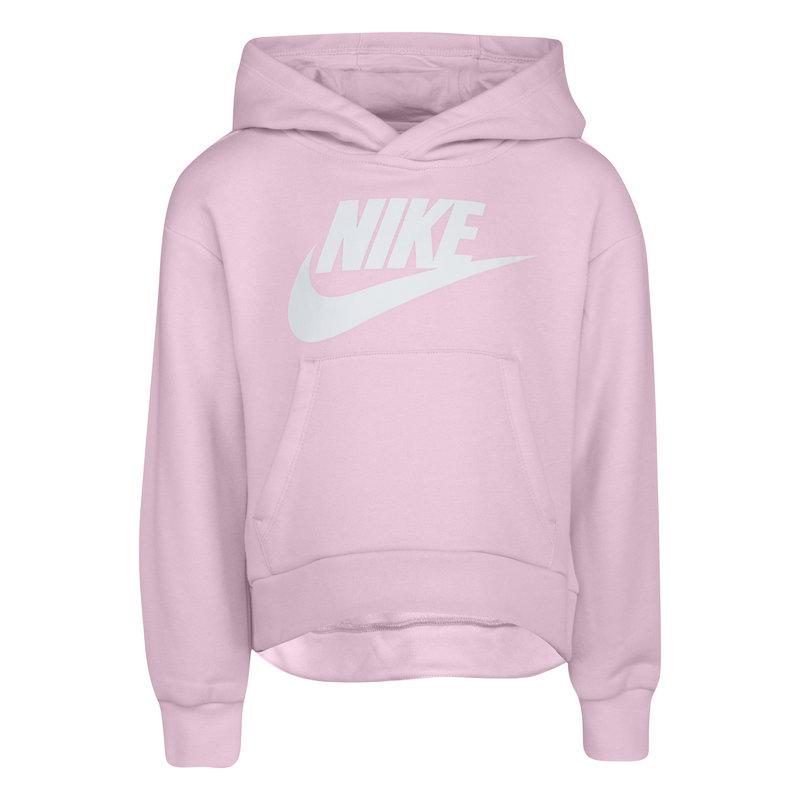 Nike Nike Kid's Club Fleece High-Low Pullover 'Pink Foam' 36I253 A9Y