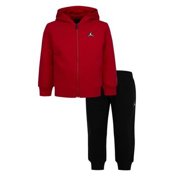 Air Jordan Air Jordan Kid's Essential Zip Hoodie & Pant Set 'Black/Red' 75A744 023