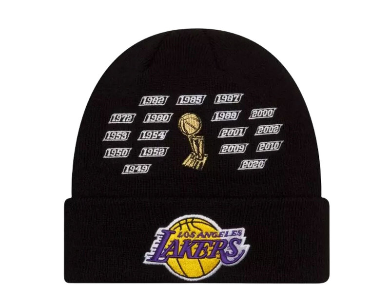 New Era New Era LA Lakers Beenie 17 time Champions 60185294