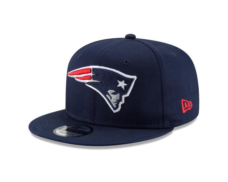 New Era New Era New England Patriots Basic 9FIFTY Snapback Navy Blue 11872973