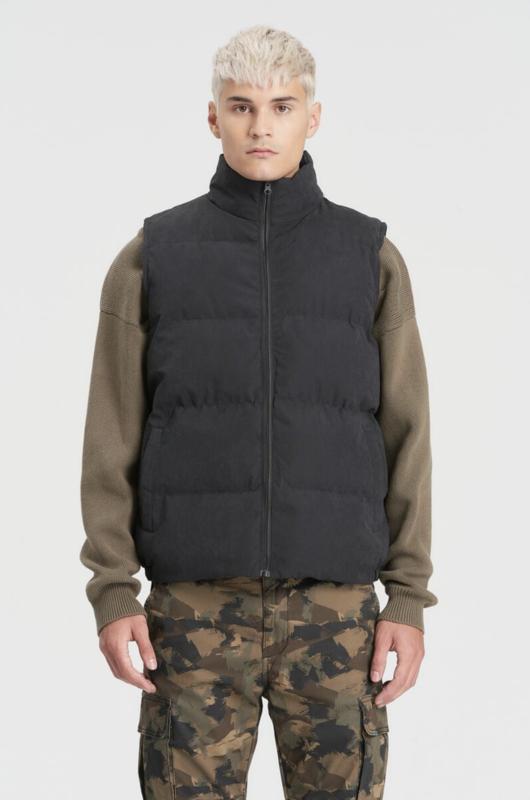 Kuwalla Tee Kuwalla Tee Puffer Vest Black KUL-PV2225