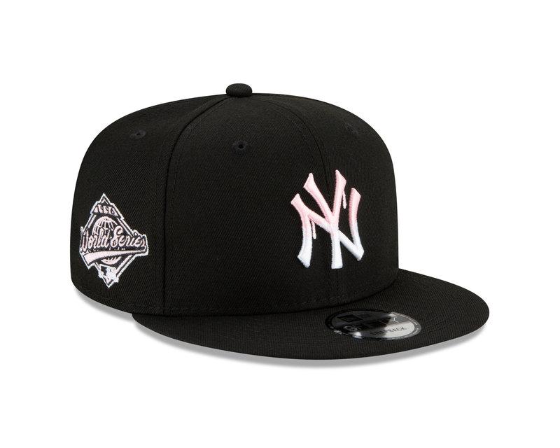 New Era New Era New York Yankees Pink Drip 1996 World Series Side Patch 9Fifty Snapback